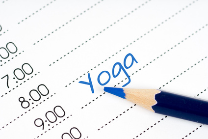 day schedule yoga